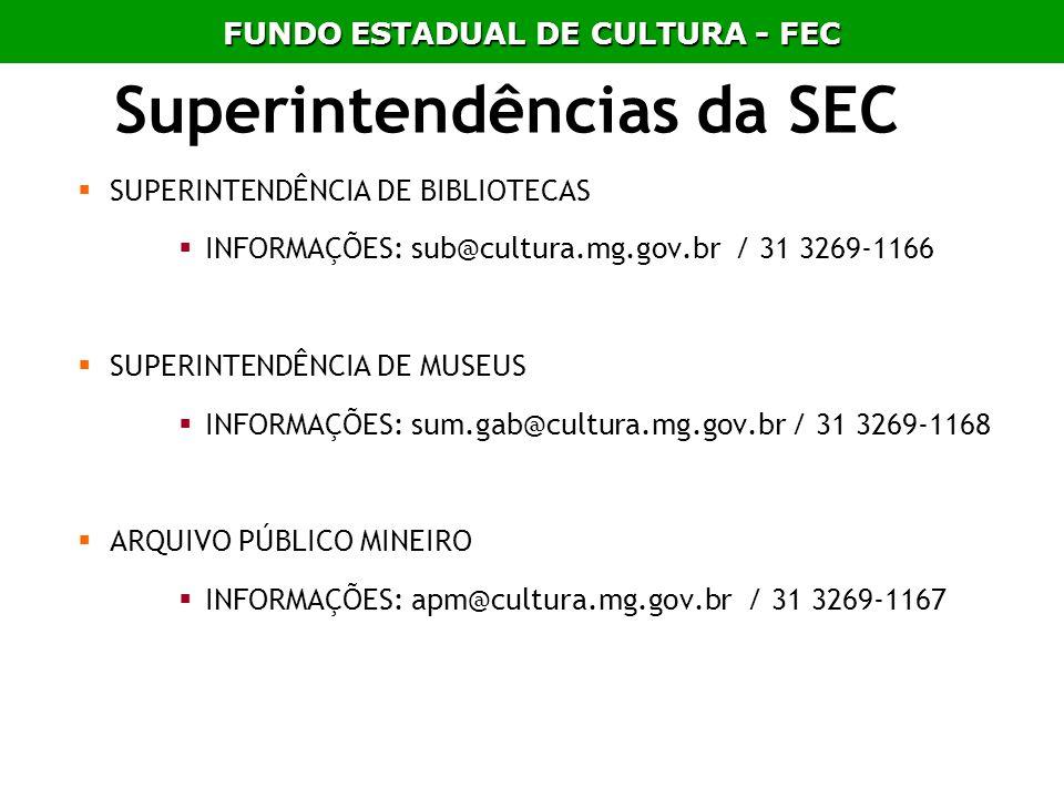 Superintendências da SEC
