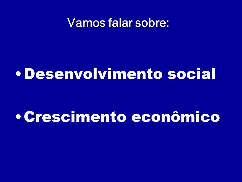Desenvolvimento social Crescimento econômico