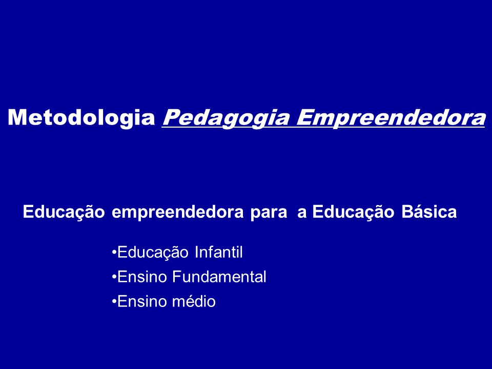 Educação empreendedora para a Educação Básica