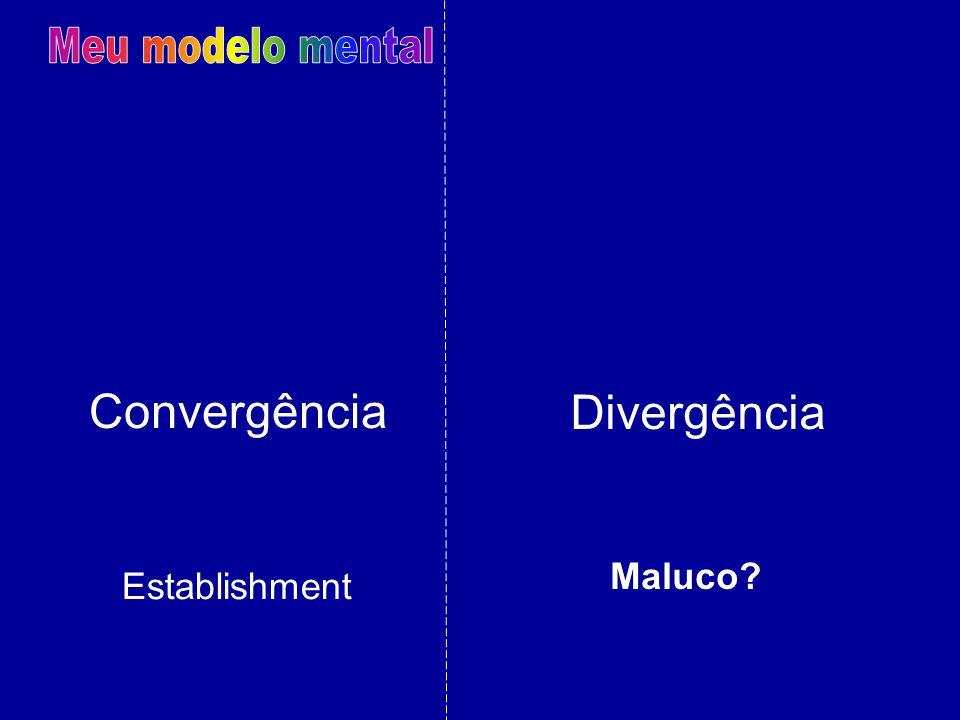 Meu modelo mental Convergência Divergência Maluco Establishment