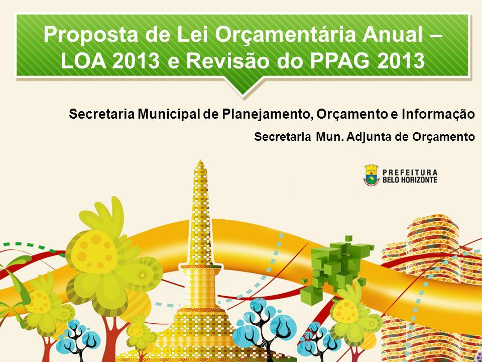 Proposta de Lei Orçamentária Anual – LOA 2013 e Revisão do PPAG 2013