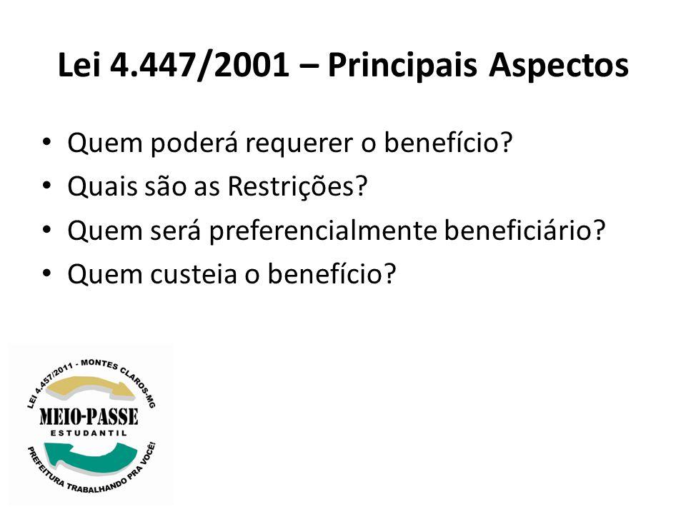 Lei 4.447/2001 – Principais Aspectos