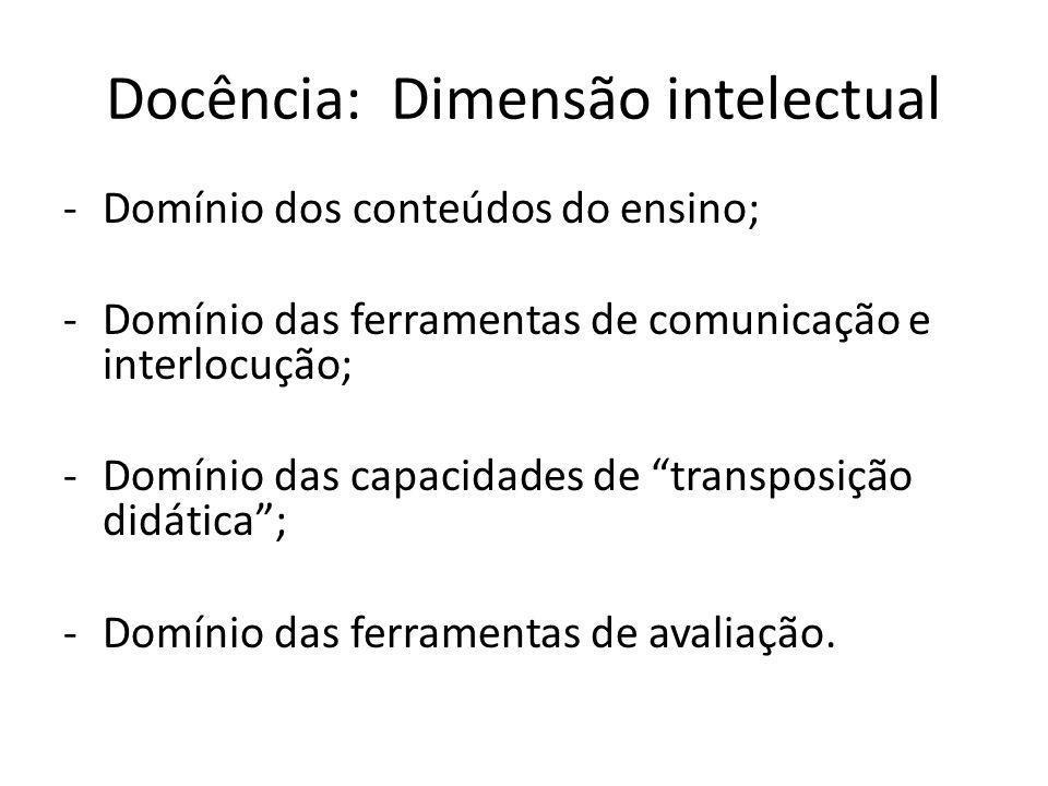 Docência: Dimensão intelectual