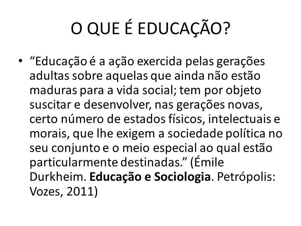 O QUE É EDUCAÇÃO