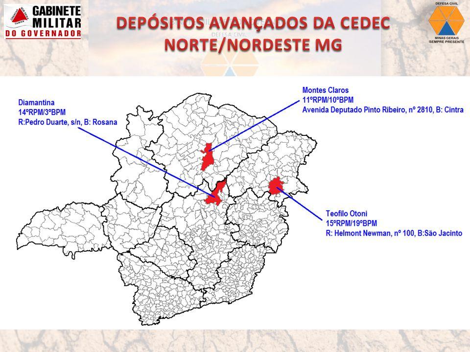 DEPÓSITOS AVANÇADOS DA CEDEC NORTE/NORDESTE MG