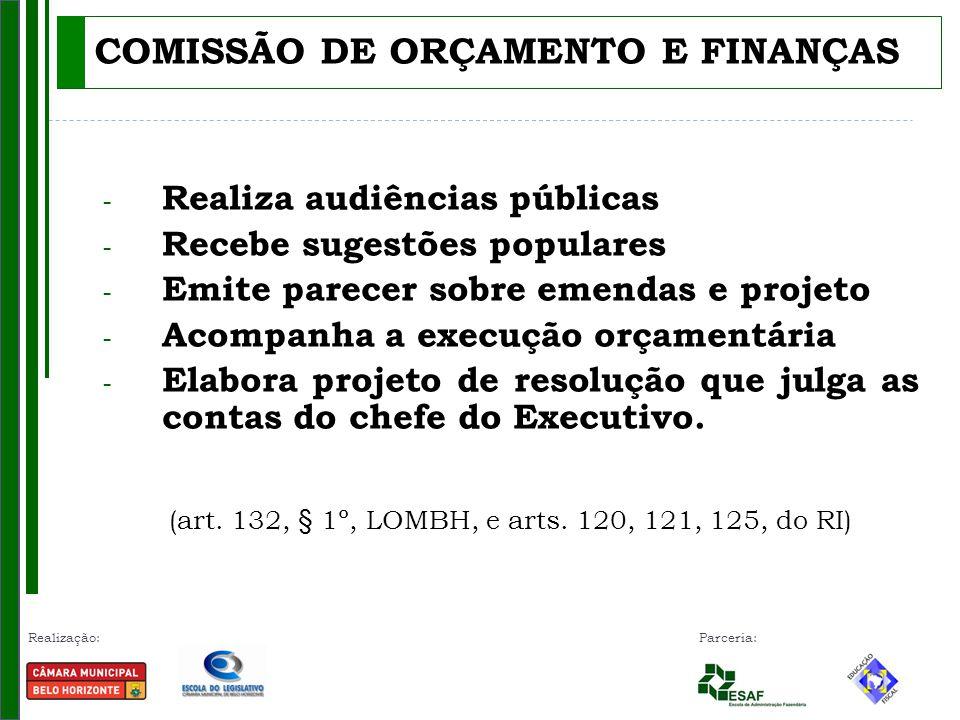 COMISSÃO DE ORÇAMENTO E FINANÇAS