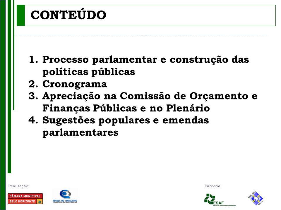 CONTEÚDO Processo parlamentar e construção das políticas públicas