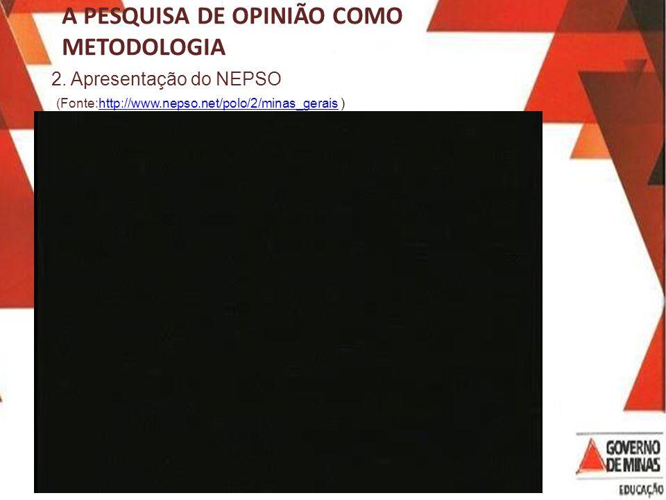 A PESQUISA DE OPINIÃO COMO METODOLOGIA