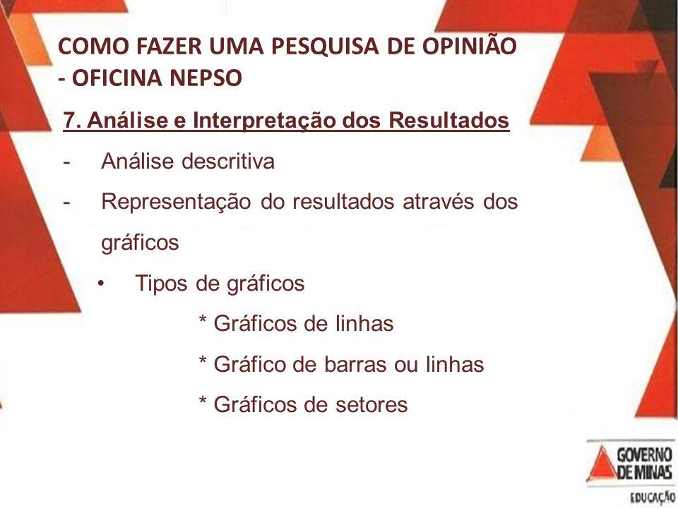 COMO FAZER UMA PESQUISA DE OPINIÃO - OFICINA NEPSO