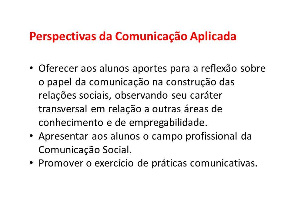 Perspectivas da Comunicação Aplicada