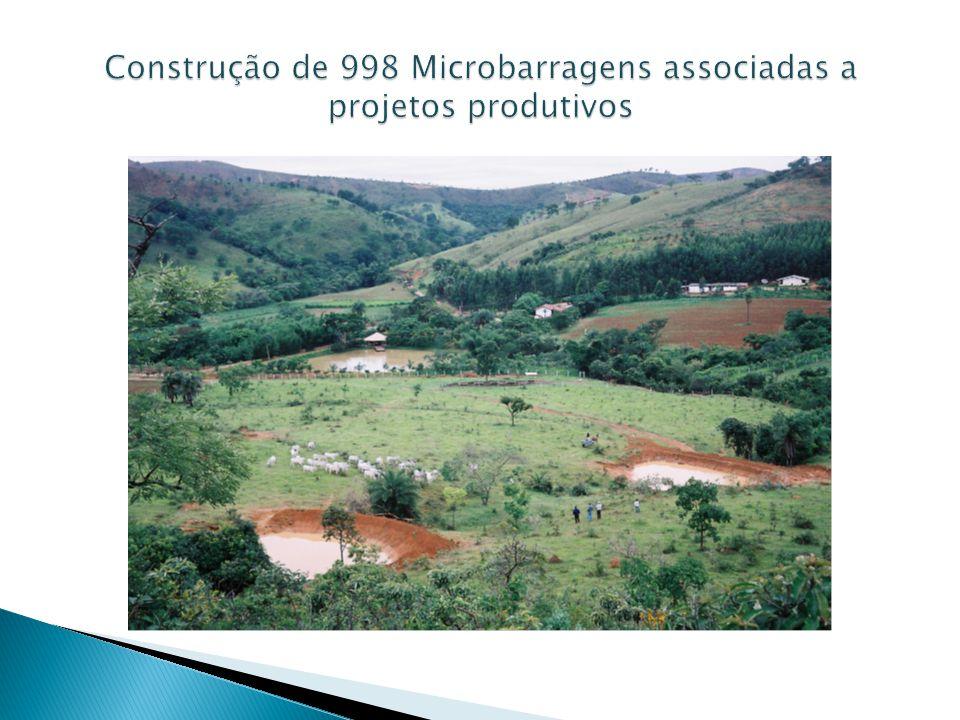 Construção de 998 Microbarragens associadas a projetos produtivos