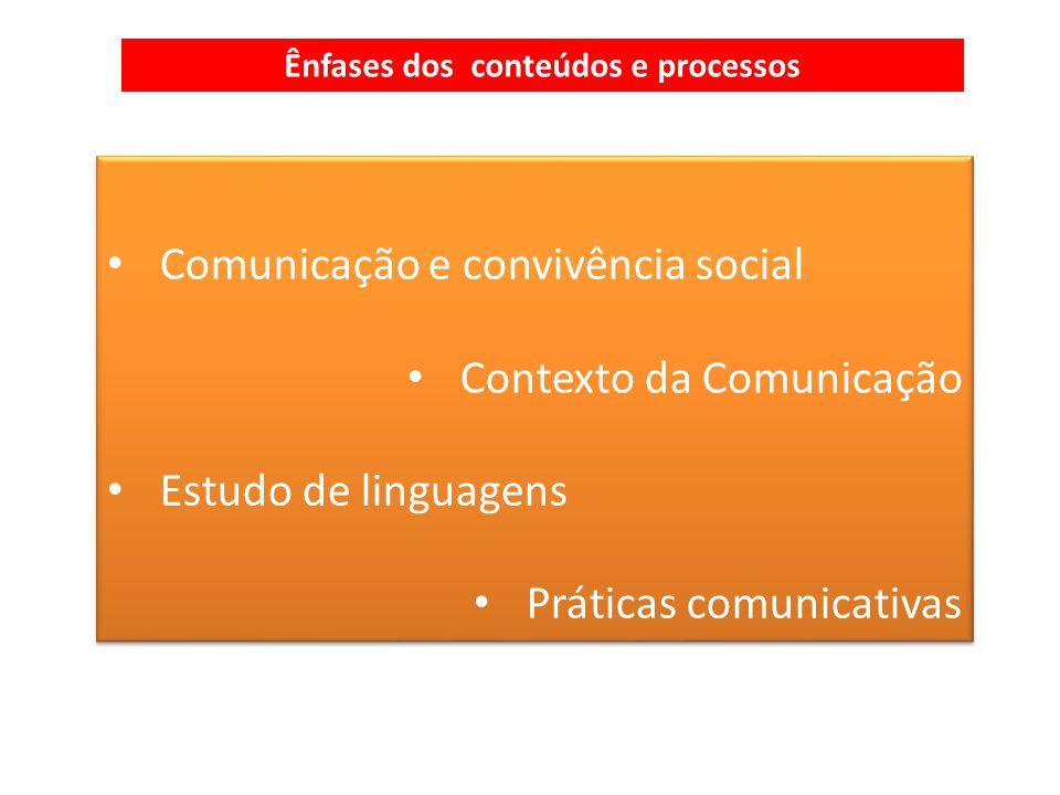Ênfases dos conteúdos e processos