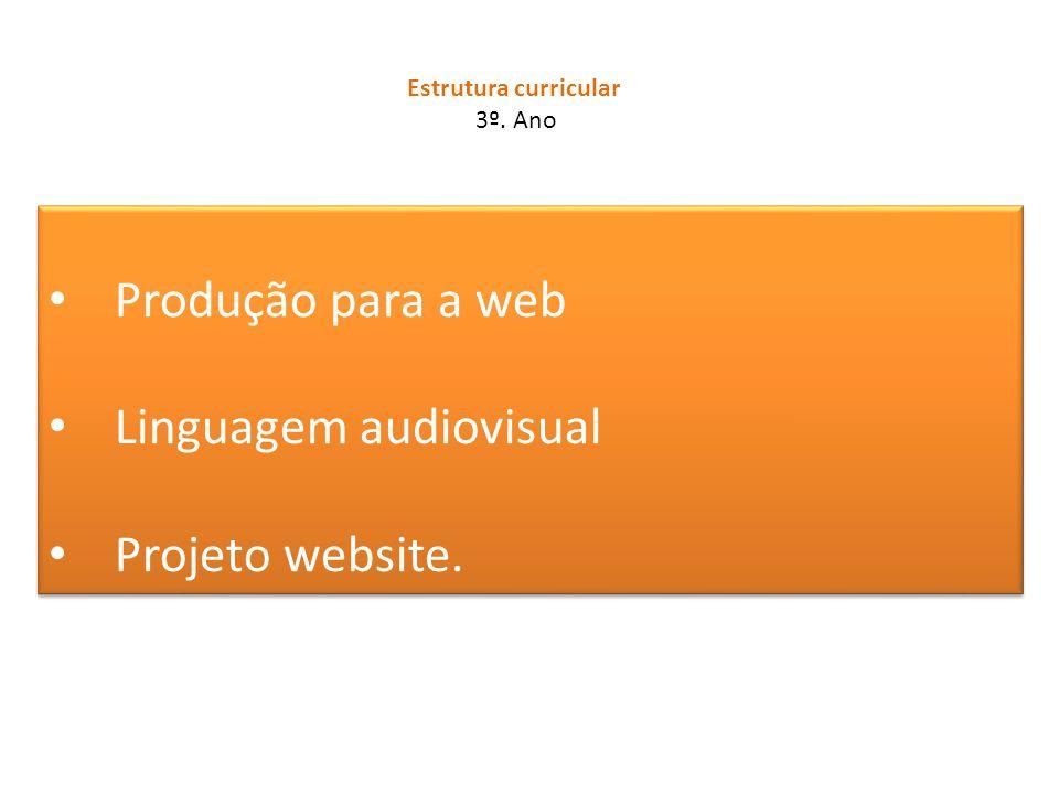Linguagem audiovisual Projeto website.