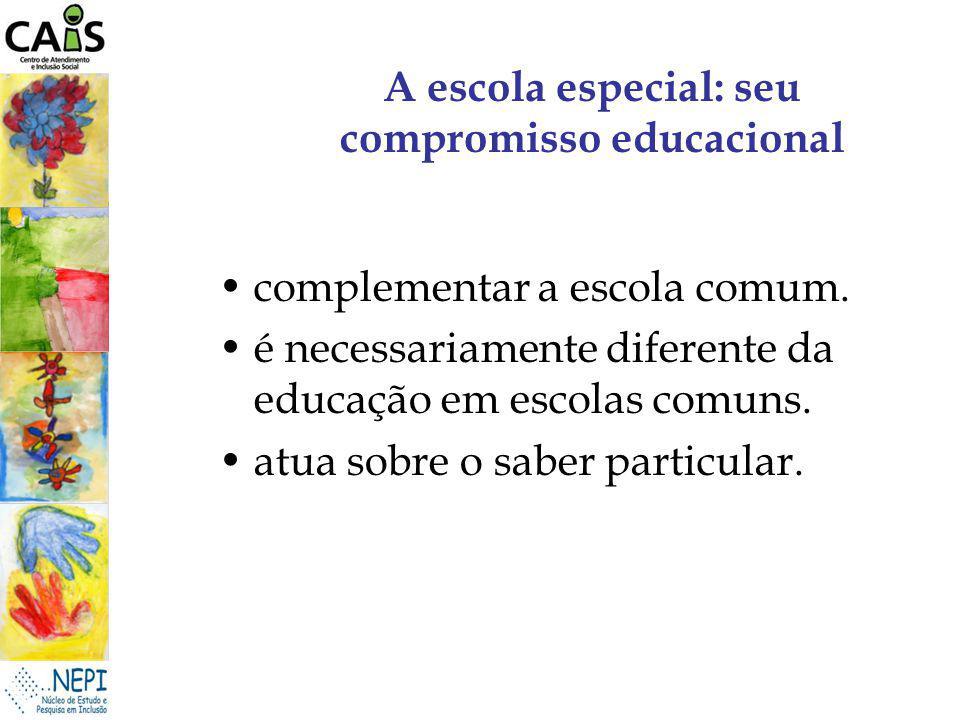 A escola especial: seu compromisso educacional