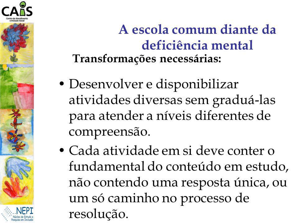 A escola comum diante da deficiência mental