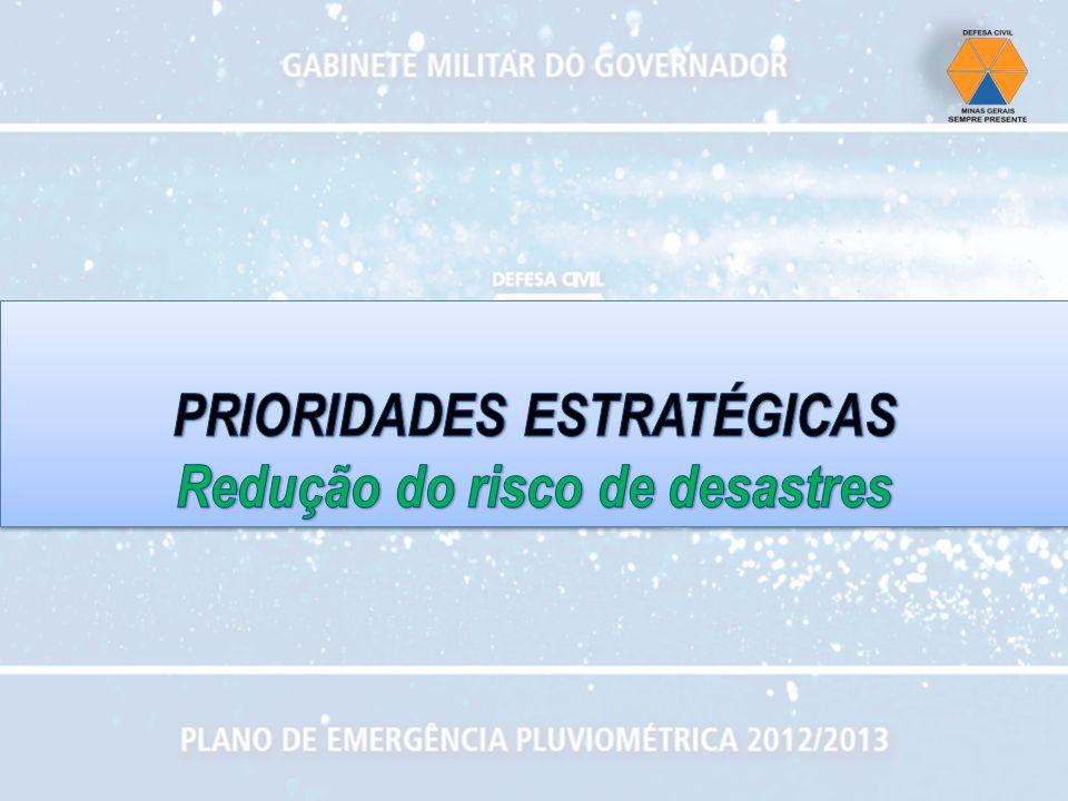 PRIORIDADES ESTRATÉGICAS Redução do risco de desastres