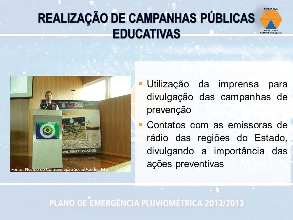 REALIZAÇÃO DE CAMPANHAS PÚBLICAS EDUCATIVAS