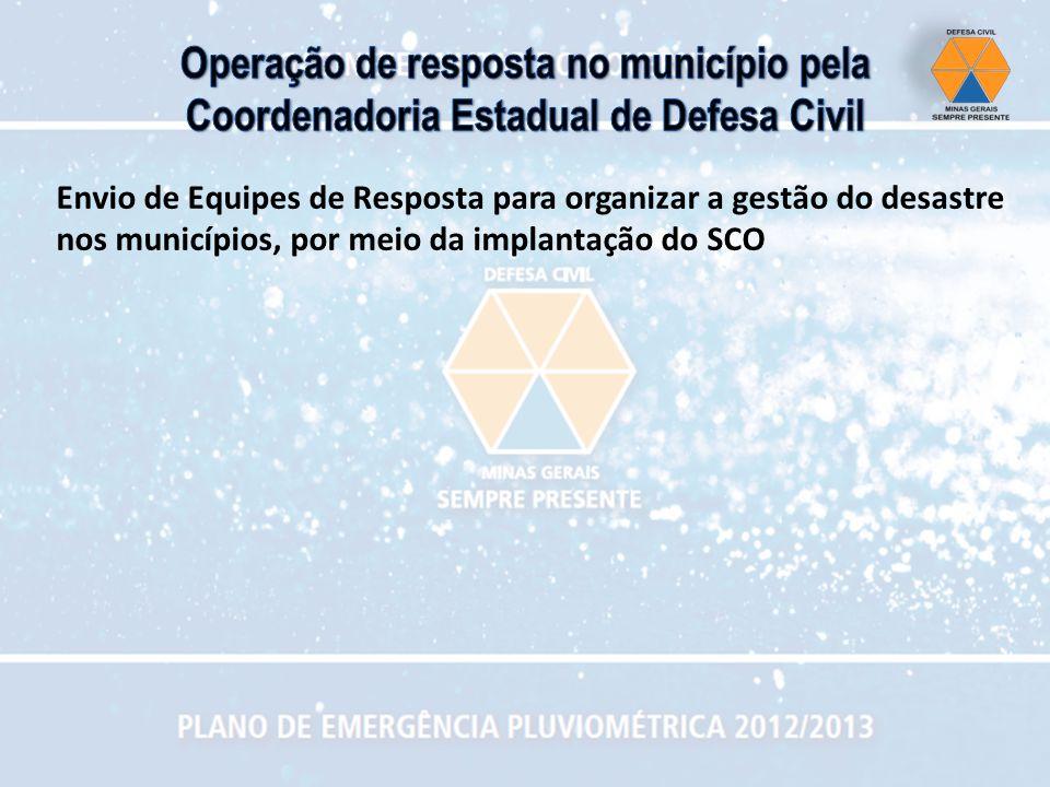 Operação de resposta no município pela