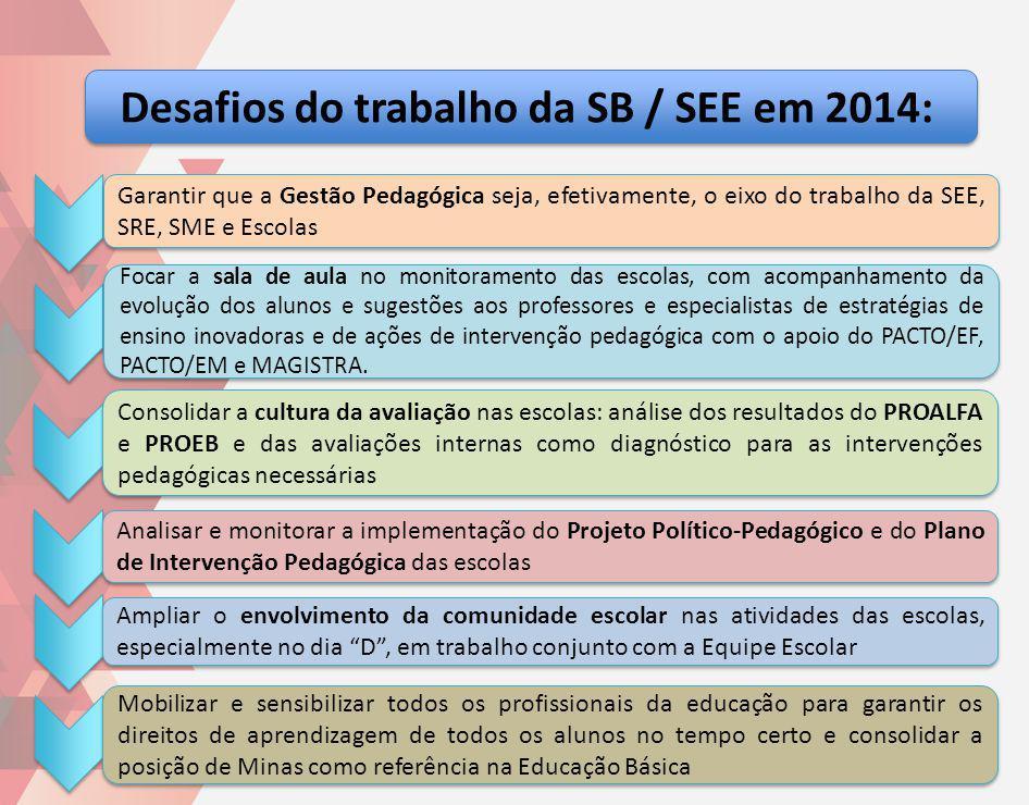 Desafios do trabalho da SB / SEE em 2014: