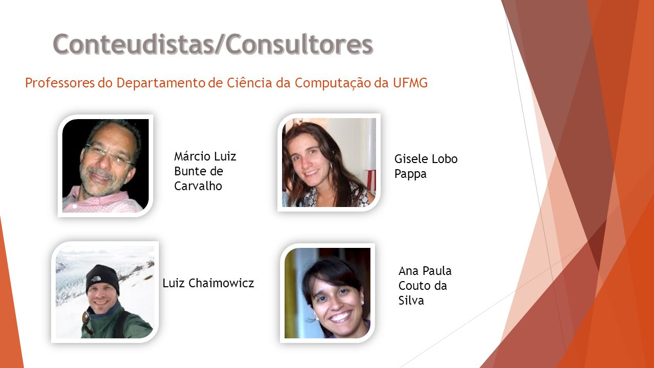 Professores do Departamento de Ciência da Computação da UFMG