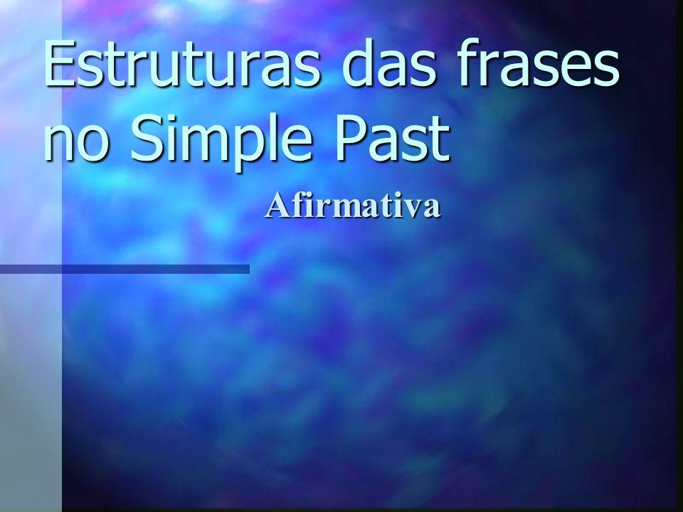 Estruturas das frases no Simple Past