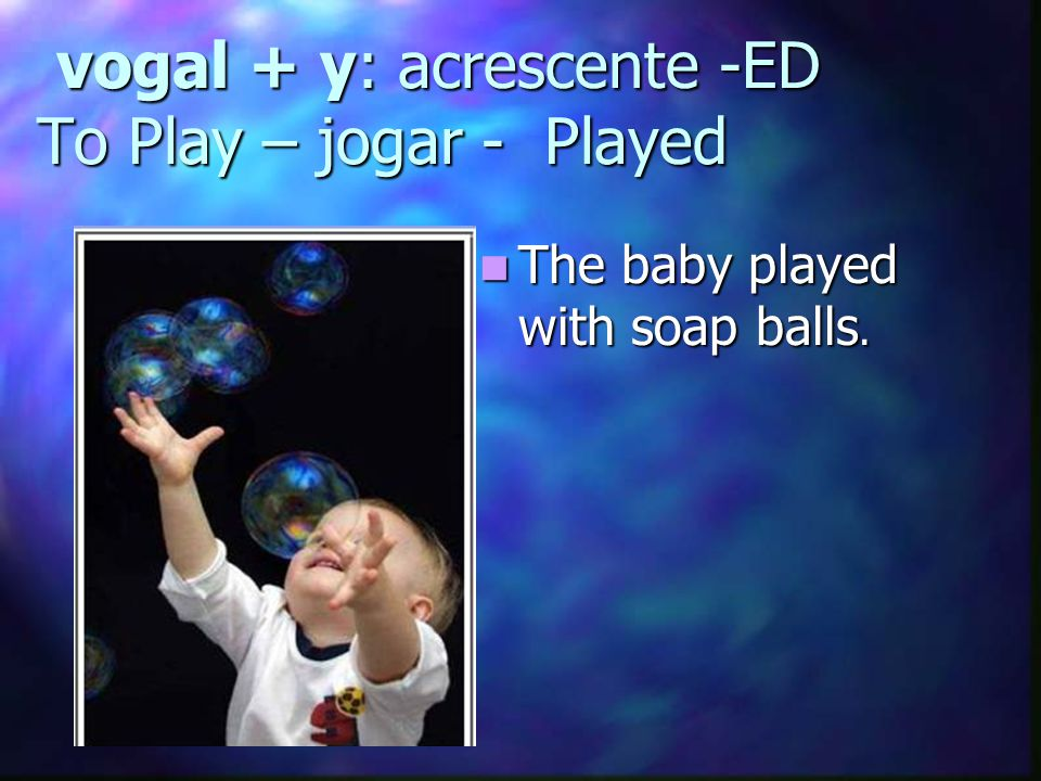 vogal + y: acrescente -ED To Play – jogar - Played