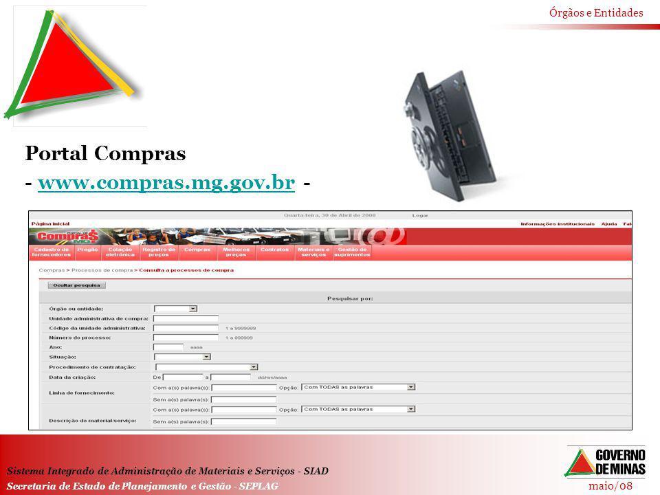 Portal Compras - www.compras.mg.gov.br -