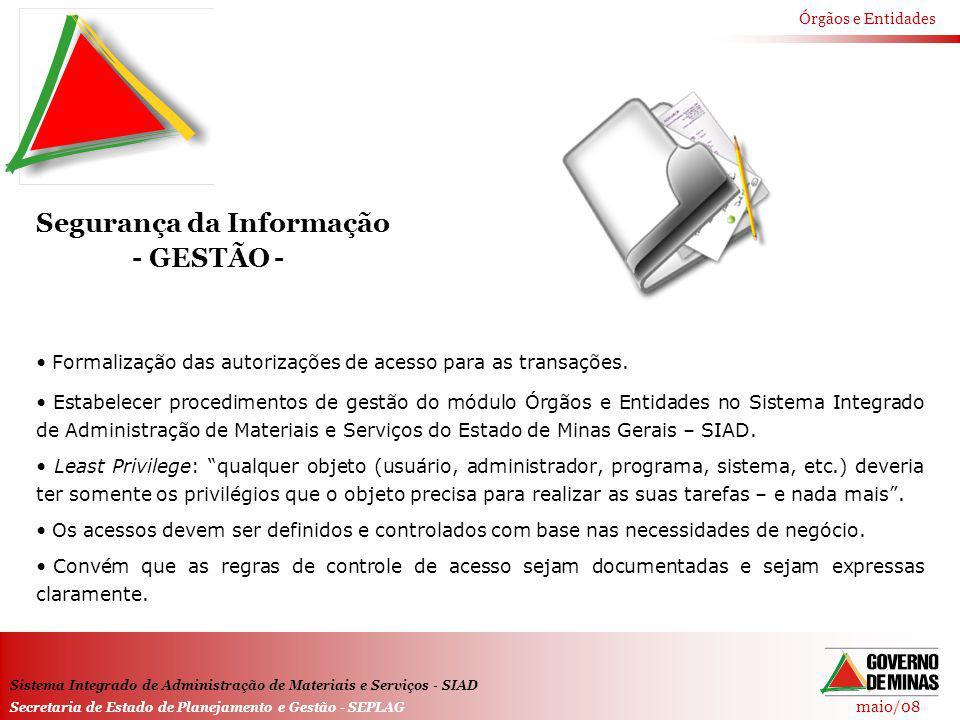 Segurança da Informação - GESTÃO -