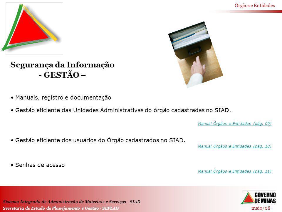 Segurança da Informação - GESTÃO –