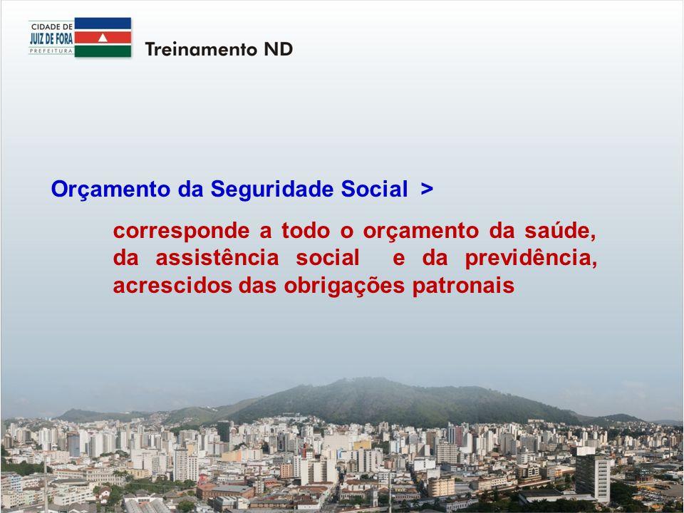 Orçamento da Seguridade Social >