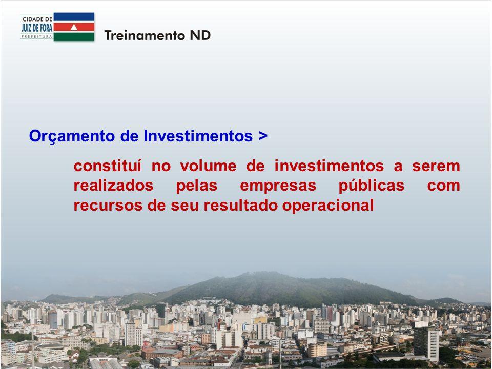 Orçamento de Investimentos >