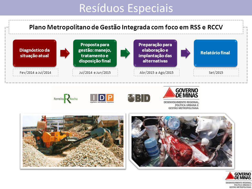 Plano Metropolitano de Gestão Integrada com foco em RSS e RCCV