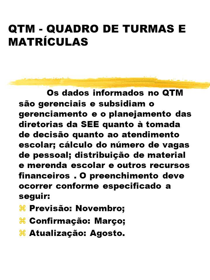 QTM - QUADRO DE TURMAS E MATRÍCULAS