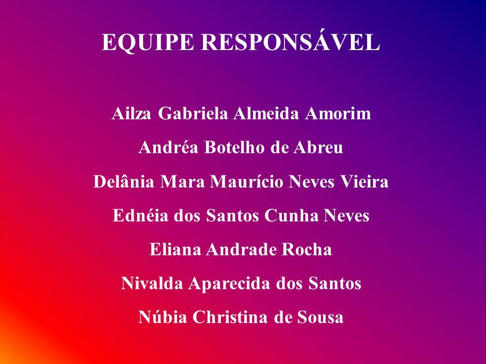 EQUIPE RESPONSÁVEL Ailza Gabriela Almeida Amorim
