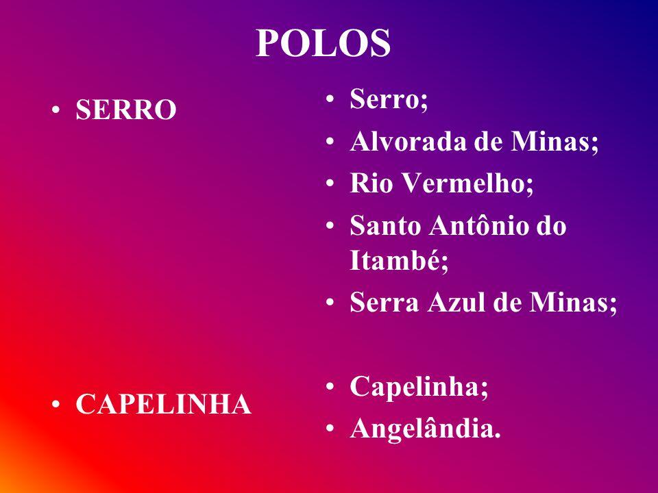 POLOS Serro; SERRO Alvorada de Minas; Rio Vermelho;