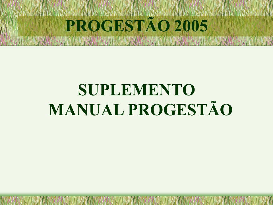 SUPLEMENTO MANUAL PROGESTÃO