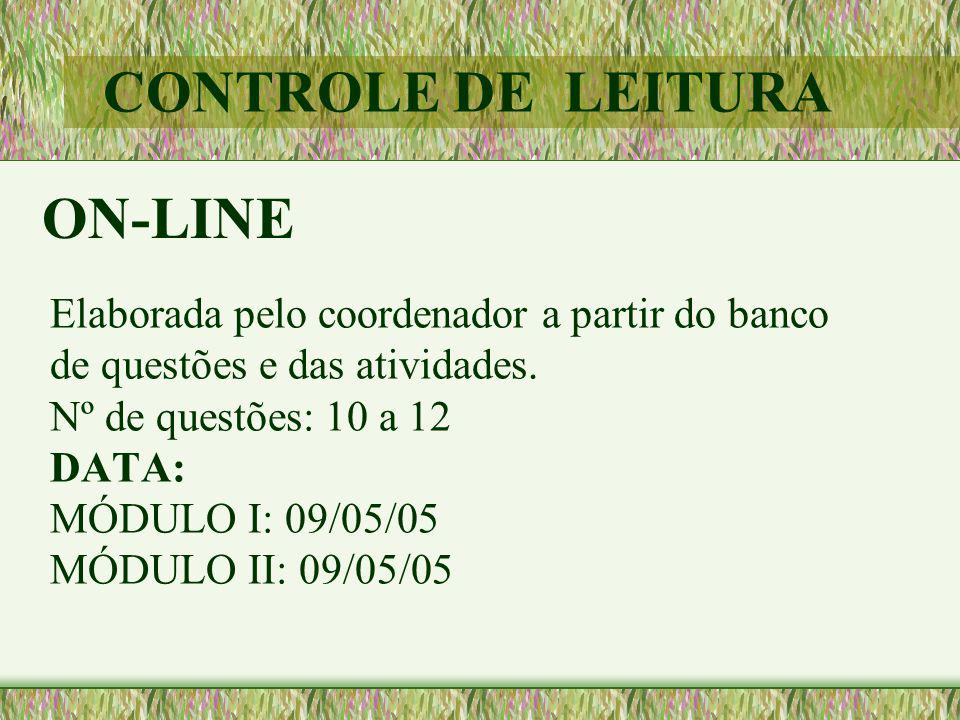 CONTROLE DE LEITURA ON-LINE