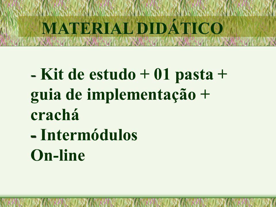 MATERIAL DIDÁTICO - Kit de estudo + 01 pasta + guia de implementação + crachá - Intermódulos On-line.