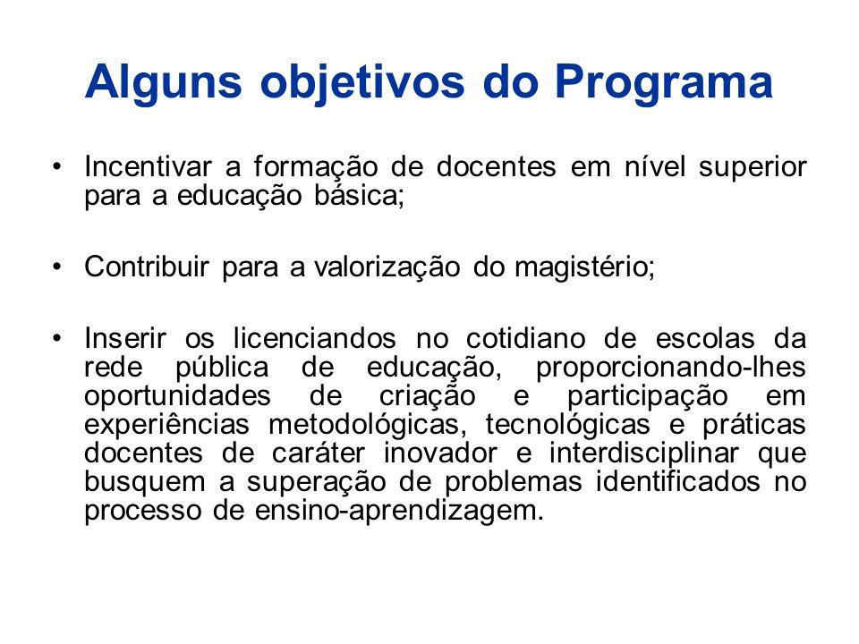 Alguns objetivos do Programa
