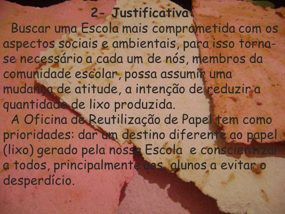 2- Justificativa: