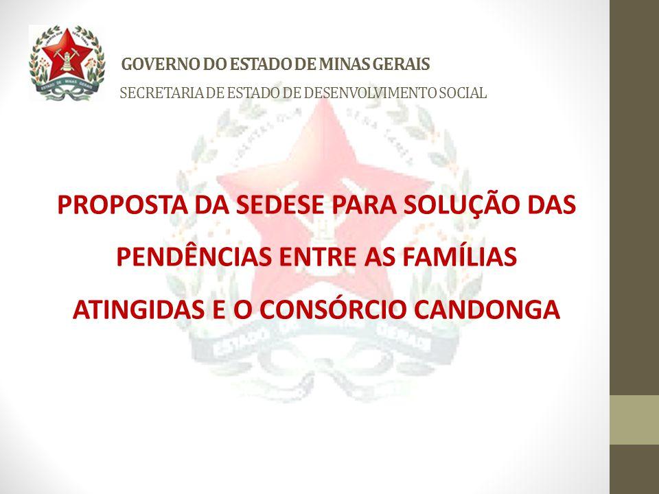 GOVERNO DO ESTADO DE MINAS GERAIS SECRETARIA DE ESTADO DE DESENVOLVIMENTO SOCIAL