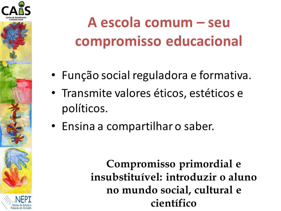 A escola comum – seu compromisso educacional
