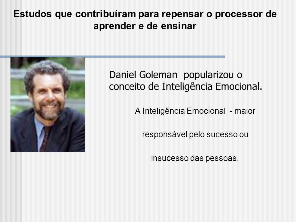 Daniel Goleman popularizou o conceito de Inteligência Emocional.