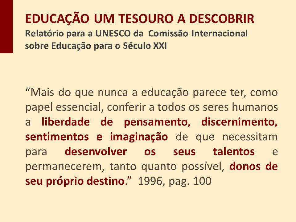 EDUCAÇÃO UM TESOURO A DESCOBRIR Relatório para a UNESCO da Comissão Internacional sobre Educação para o Século XXI
