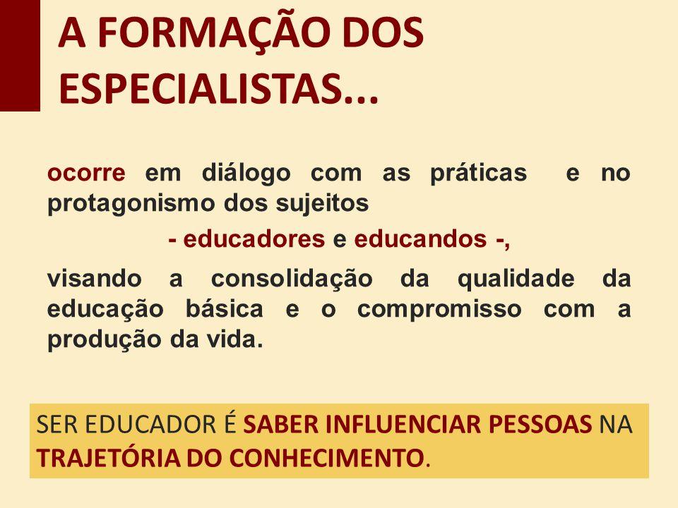 - educadores e educandos -,