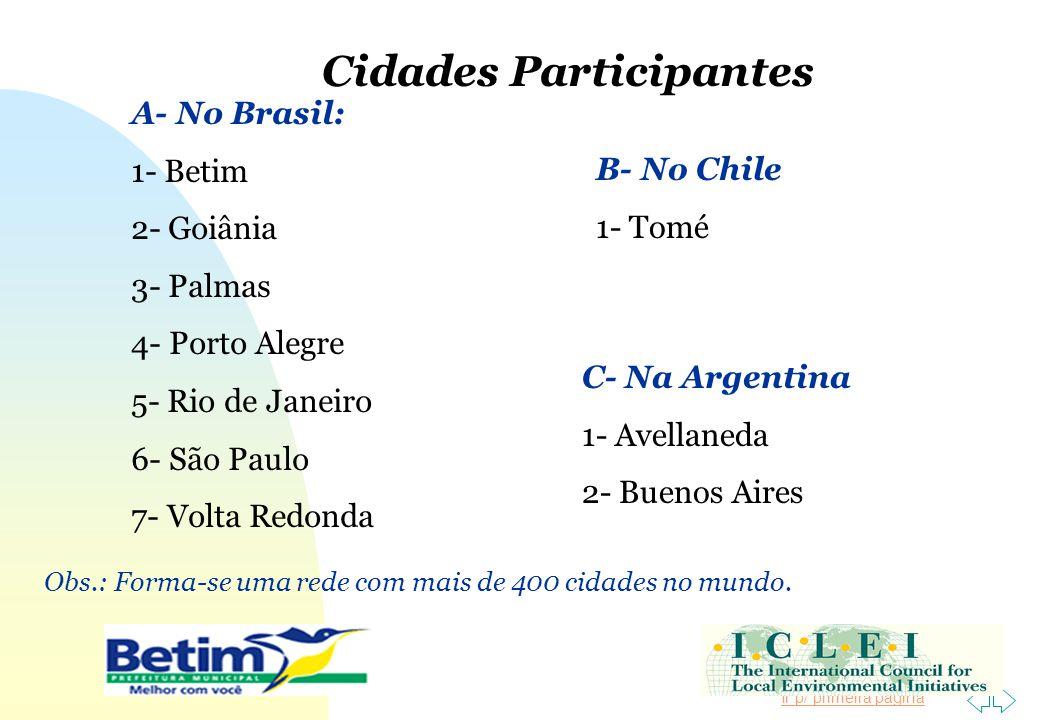 Cidades Participantes