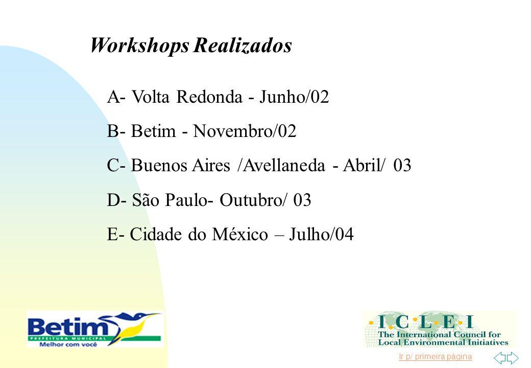 Workshops Realizados A- Volta Redonda - Junho/02