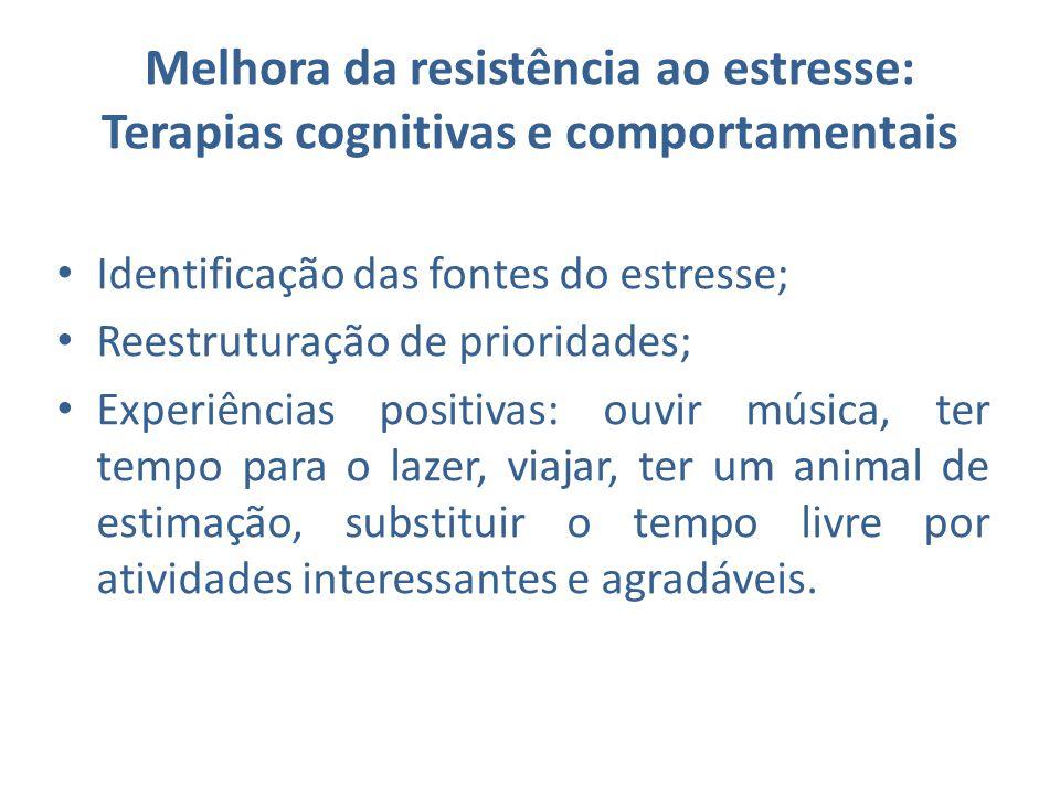 Melhora da resistência ao estresse: Terapias cognitivas e comportamentais