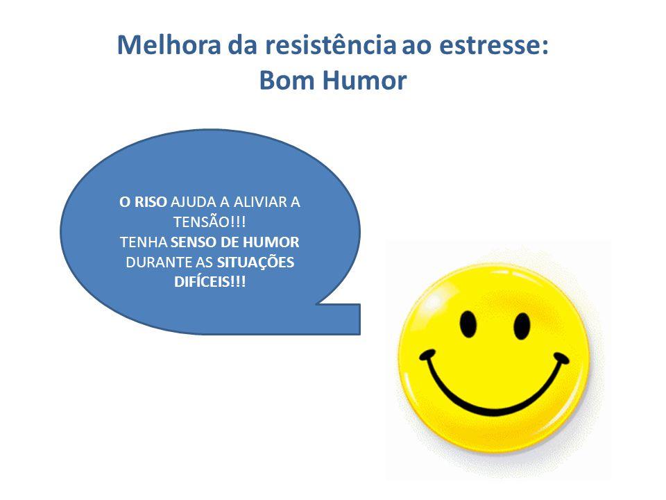 Melhora da resistência ao estresse: Bom Humor