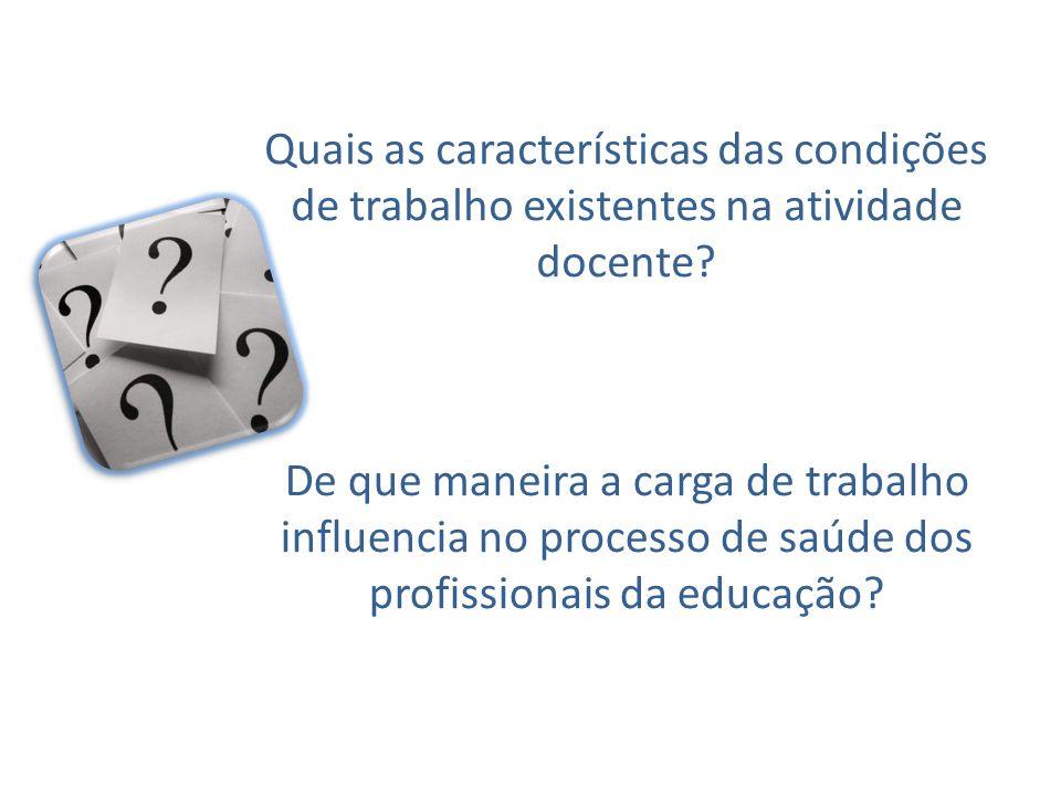 Quais as características das condições de trabalho existentes na atividade docente